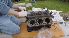 Timelapse Video of me converting an old engine block into a coffee table. The engine is a Mercury Marine engine originally used as a speedboat outbo.