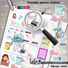 ★New listing! Time for planning :) Printable stickers