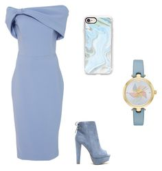 """pastel blue"" by ashlynbrianna1108 ❤ liked on Polyvore featuring Christian Siriano, Wolf & Moon, Casetify and Kate Spade"