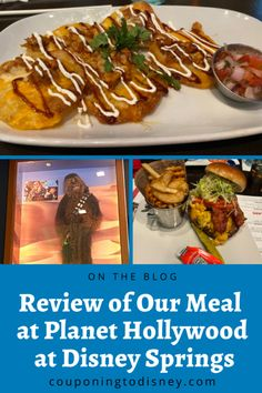 Review of Our Meal at Planet Hollywood at Disney Springs Disney World Restaurants, Walt Disney World Vacations, Disney Dining Plan, Planet Hollywood, Disney World Planning, Disney World Tips And Tricks, Disney Springs, Disney Food, Menu Restaurant
