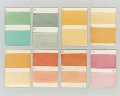 Original colour cards made by a house-painter for a job in Wigtownshire ca.1805.    I have matched them into modern paint and they have been very popular over the last twenty years.  The house can be seen here - http://patrickbaty.co.uk/2011/04/12/barnbarroch-wigtownshire/