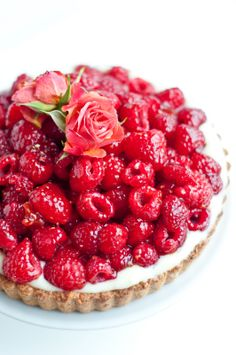"""Desserts for Breakfast: Raspberry Rose """"Hidden"""" Chocolate Tart, and the National Food Bloggers Bake Sale!"""