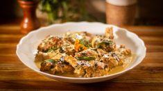 Poulet a l'estragon Turkey Recipes, Chicken Recipes, Recipe Chicken, Braised Chicken, Soy Chicken, Italian Chicken, Creamy Chicken, Great Recipes, Recipes