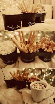 Hot chocolate bar - pinning for winter.