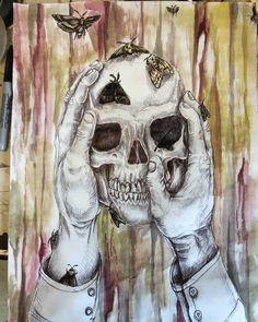 Morbid Fascination of Death. Ballpoint pen/watercolor on paper. 11x15. https://ift.tt/2H1DrpH