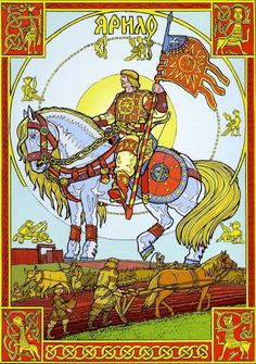 Jarilo (Cyrillic: Ярило) was Slavic god of vegetation, fertility and springtime. Jarilo was 10th son of supreme Slavic god of thunder, Perun, born on the last night of February. On the same night Jarilo was stolen from his father and taken to the world of dead, where he was adopted by Veles, Perun's enemy, Slavic god of underworld and cattle.The Slavs believed underworld to be an ever-green world of eternal spring and wet, grassy plains, where Jarilo grew up guarding cattle of his…