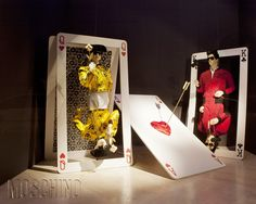 """Moschino boutique a Milano, Via Sant'Andrea 12 – February 2012 window display. Theme: """"Playing cards"""""""