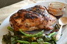 Ghost Rubbed Whole Grilled Chicken