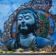 el mac photorealistic street art gallery buddha El Mac