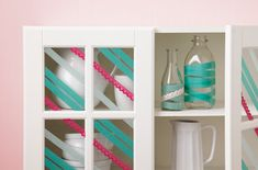 Get crafty with decorative tape that adheres to just about anything.