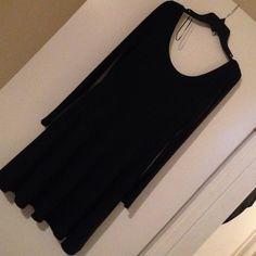 Black H&M dress size medium This is a long sleeve black polyester dress from H&M H&M Dresses Mini