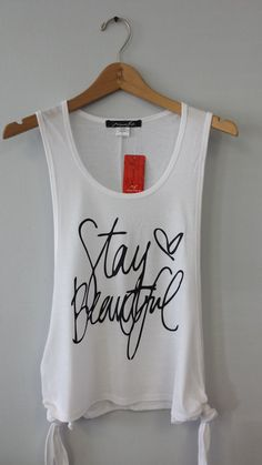Tank Top Stay Beautiful by CustomTsCorp on Etsy, $19.99