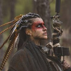 62 Best Ideas For Photography Women Wild Warriors photography 795096509194666227 Krieger Make-up, Warrior Makeup, Tribal Makeup, Tribal Warrior, Woman Warrior, Shaman Woman, Post Apocalyptic Fashion, Elfa, Halloween Disfraces