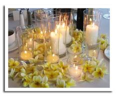 Tropical Wedding Reception Centerpieces | Wedding Candle Centerpieces: Ideas for Glowing and Gorgeous Tables