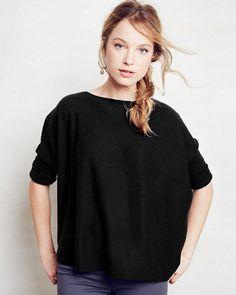 Cashmere Cropped Boxy Sweater