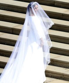 The Duchess of Sussex's veil. Silk tulle handembroidered in silk threads and organza