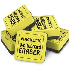 Magnetic Whiteboard Erasers 12pk 2in X 2in