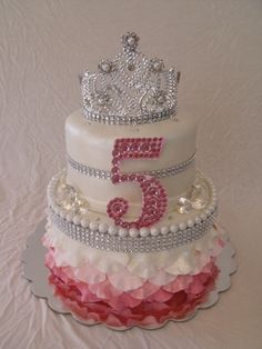 Pink Princess Bling Birthday Cake. Any little girl would love to have this for their birthday cake..