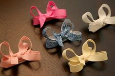 Infant hairbows with velcro tutorial, I have GOT to figure out a way to keep Lily from pulling her hairbows out of her hair!
