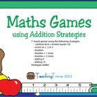 Addition board games to reinforce simple addition strategies to 18.    This pack of 7 addition games includes:  Rainbow Facts - addition facts to make...