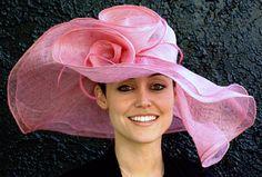Pink Kentucky Derby Hat, soft straw