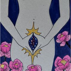 yoni mudra and portal. realizing i really like the water colors - could be nice to have something watercolor in my logo Illustrations, Illustration Art, Goddess Art, Arte Horror, Yoga Art, Feminist Art, Arte Pop, Sacred Feminine, Psychedelic Art