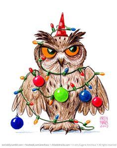 Happy New Year owl (Arenhaus)
