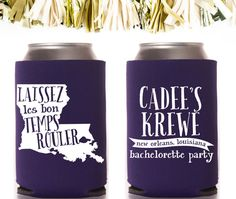 Personalized koozies are a fun and affordable keepsake for the bride and bachelorette party guests! Celebrate the bride by customizing this New