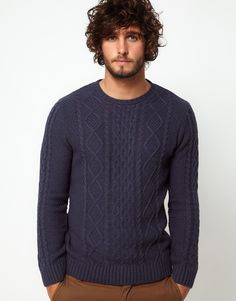 Cable knit sweater, if I have a guy, I'll knit him one in any colour he wants.