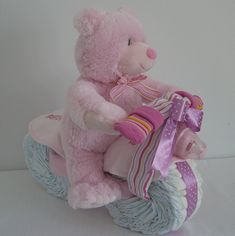 diaper motorcycle (baby shower gift )