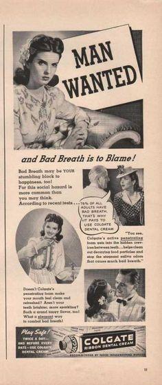 Man Wanted (1941) Ribbon Dental Cream