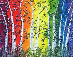 For Sale at www.charbensonarts.com Rainbow Dream Original Acrylic Canvas Painting Rainbow Rainbow Painting, Rainbow Art, Rainbow Colors, Vibrant Colors, Tree Paintings, Colorful Paintings, Your Paintings, Acrylic Paintings, The Art Sherpa