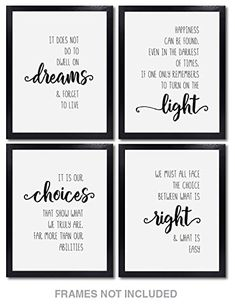 Happiness Can Be Found Quote Harry Potter Quote Art Print 8x10 Unframed