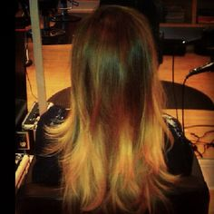 My Ombre Hair. #ombre #ombred #hair