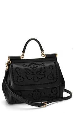 Dolce Gabbana  Miss Sicily  Embroidered Floral Satchel  7eb5553150a