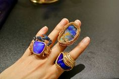 Lydia Courteille Sahara collection rings