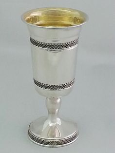 Sterling silver handmade wine goblet