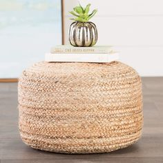 Add style and elegance of your living room or bedroom with this beautiful Beige Jute Braided Pouffe. Get flat 47% OFF online at Wooden Street. #pouffe #jutepouffe #pouffeseat #pouffesofa #pouffechairs