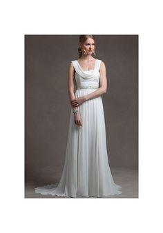 [$322.00] Chiffon Column Simple Wedding Dress