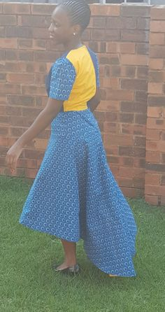 african print dress/shweshwe/high low dress - pinned by pin4etsy.com