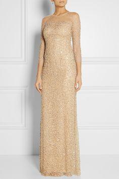 Jenny Packham Embellished tulle gown NET-A-PORTER.COM