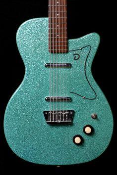 Danelectro Baritone Aqua Sparkle - Norman's Rare Guitars Baritone Guitar, Rare Guitars, Advanced Style, Epiphone, Cool Guitar, Bass, Instruments, Aqua, Sparkle