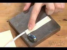 How to Make a bezel to set a stone or gem for jewelry « Jewelry