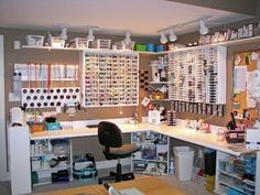 A whole room devoted to crafting. This is for people with too much space, time and money.