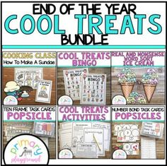 End Of The Year Ice Cream-Popsicle-Cool Treats Theme Bundle | TpT