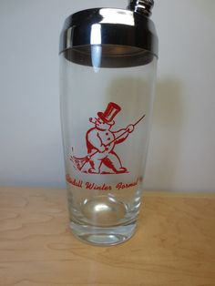 Vintage Mid Century SnowMan Cocktail Shaker by ScootersShop