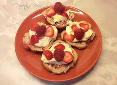Fresh Berry Scones, Jam, Clotted Cream and Fresh Berries