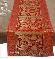 Table Runner Colorful Brocade & Poly Satin Table Runners Fabric: Poly Satin Size: Dimension (L X B) - 60 in X 16 in Description: It Has 1 Piece of Table Runner Work: Brocade Patch Work Country of Origin: India Sizes Available: Free Size *Proof of Safe Delivery! Click to know on Safety Standards of Delivery Partners- https://ltl.sh/y_nZrAV3  Catalog Rating: ★4.5 (260)  Catalog Name: Elegant Designer Poly Satin Table Runners Vol 2 CatalogID_92922 C129-SC1127 Code: 534-808560-