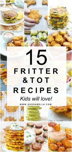15 Fritter & Tot Recipes That Kids Will Love! Baby Food Recipes, Healthy Recipes, Snack Recipes, Toddler Recipes, Childrens Meals, Toddler Snacks, Kid Snacks, Healthy Eating For Kids, Different Recipes