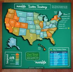 Twitter Territory US States Infographic